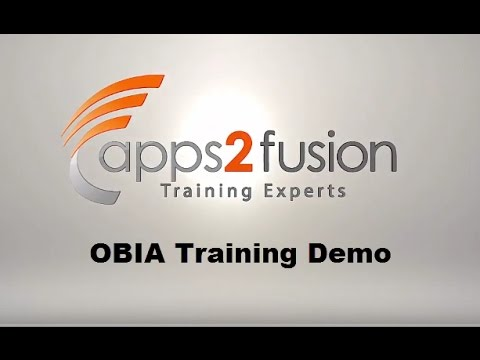 Oracle Business Intelligence Applications (OBIA) Training- Demo ...