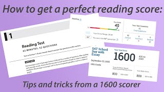 How to get a perfect score on the SAT reading section: tips from a 1600 scorer