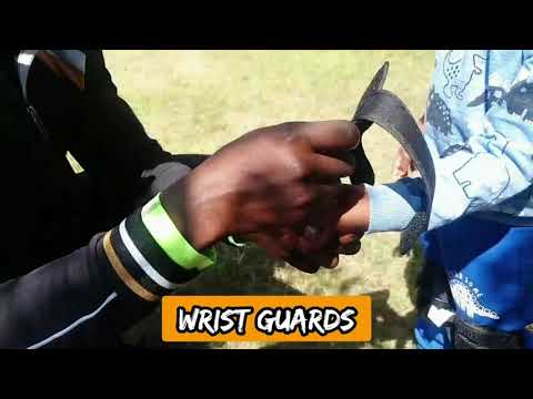 How to fit and put on kids multisport protective gear set- Knee pads Elbow Pads Wrist Guards