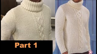 Full Tutorial: How To KNIT A Custom MANS SWEATER| Part 1