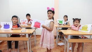 Kids Go To School | Chuns And Friend Learn Color Creativity Of Children