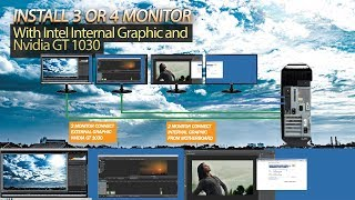 How to set multi monitor 3 or 4 monitors one PC with Intel Graphic and GT 1030