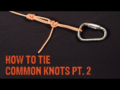 How To Tie Common Knots Pt. 2 - GME Supply