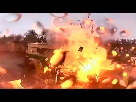 Ruokavaunu räjähtää ravintolan takana – Räjähdys tallentui valvontakameraan