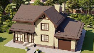 Проект дома 194-D, Площадь дома: 194 м2, Размер дома:  15,3x11,4 м