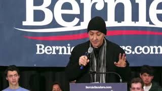 """CAMPAIGN 2020: John Cusack introduces Bernie Sanders, destroying """"neoliberal class war"""" FULL SPEECH"""
