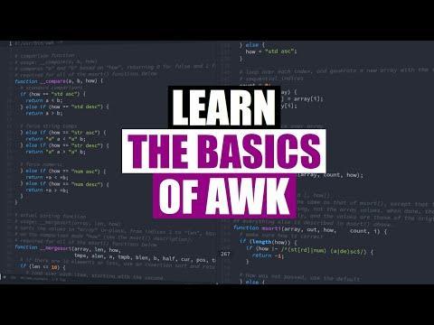 Learn the Basics of AWK