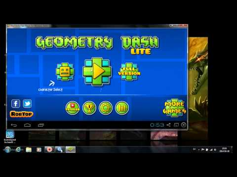 Select Geometry Dash. Jump and fly your way through danger in this rhythm-based action platformer! Prepare for a near impossible challenge in the world of Geometry Dash. Push your skills to the limit as you jump, fly and flip your way through dangerous passages and spiky obstacles.