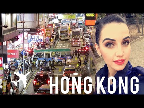 Video Fly With Me to Hong Kong | Flight Attendant Vlog | The best place to shop in Hong Kong