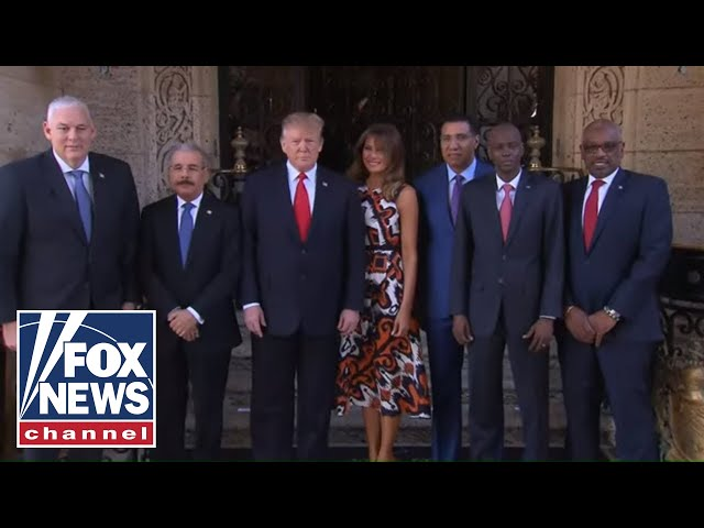 President Trump meets with Caribbean leaders
