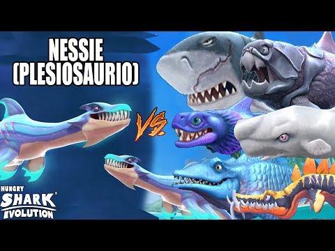 Download Hungry Shark Evolution NESSIE VS NESSIE, MEGALODÓN