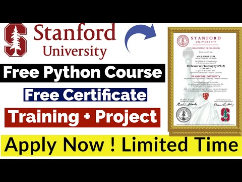 Stanford University Free Python Course With Free Certificate ...