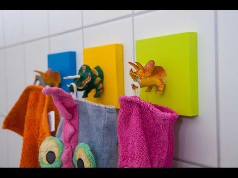 DIY Handtuchhaken für Kinder