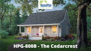 HPG-800B-1 800 SF, 2 Bed, 1 Bath Country House Plan By House Plan Gallery
