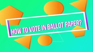 HOW TO CAST BALLOT PAPER | MUSU ELECTION