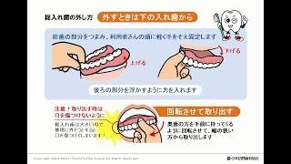 総入れ歯の着脱法