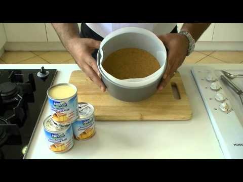 Video Nestlé Sweetened Condensed Milk - Strawberry Cheese Cake Recipe   وصفة كعكة الجبن بالفراولة