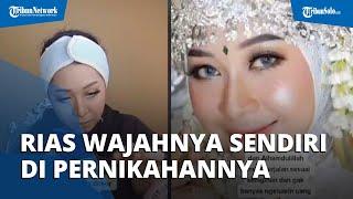 Menghemat Pengeluaran, Wanita asal Bali Rias Sendiri Wajahnya Tanpa MUA di Pernihakannya
