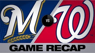 Thames propels Brewers to wild 15-14 victory | Brewers-Nationals Game Highlights 8/17/19