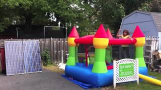 preview picture of video 'ASES National Solar Tour 2012 - solar powered bouncy house'