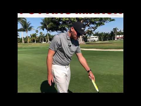 Golf Putting Drill with EyeLine Mirror