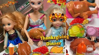 Elsa and Anna toddlers - Thanksgiving Dinner party with Barbie and her sisters - Elsa is Pregnant