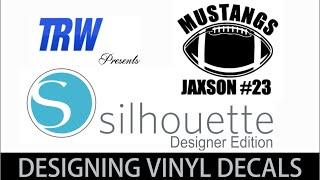 How To Design A Custom Football Vinyl Car Decal With Silhouette Designer Edition Cameo
