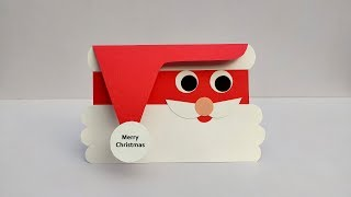 UNIQUE MERRY CHRISTMAS CARD FOR YOUR LOVED ONES - DIY HOLIDAY CARDS - SANTA CARD