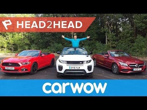 Range Rover Evoque Convertible vs Mercedes C-Class Cabriolet vs Ford Mustang Convertible | Head2Head