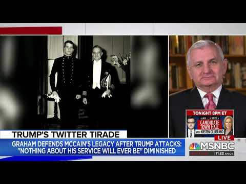 Reed Discusses Trump's McCain Comments, Saudi Arabia on Andrea Mitchell Reports