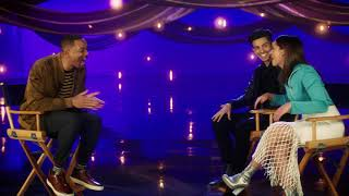 WILL SMITH Interviews Aladdin's Naomi Scott & Mena Massoud