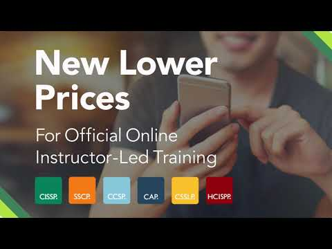 (ISC)² - Certification Online Trainings at a New Low Price - YouTube