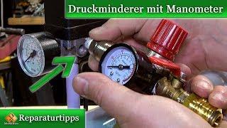 Kompressor - Druckregler / Druckminderer mit Manometer anbauen - so geht's
