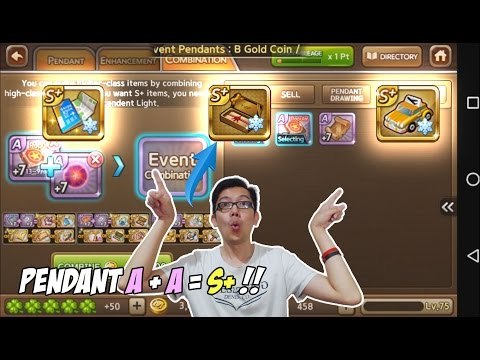 Video Line get rich : Obral murah pendant S+ ! Combine pendant A dapet S+ coyy