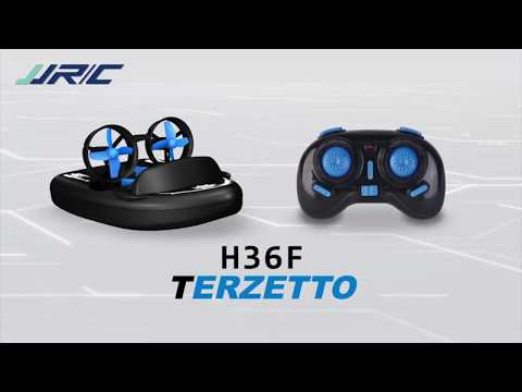 JJRC H36F Terzetto 3IN1 Waterproof RC boat hovercraft drifting car Micro Quadcopter RTF