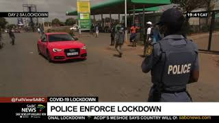 South Africa woke up to Day 2 of the country's 21-day lockdown. The country is reeling from the news of the first official death due to COVID-19. While many have been calling for The Security Cluster to be strict on those flouting the rules of the lockdown, some citizens say they have no option but to leave their homes to feed their families. SABC News Reporter Thabiso Sithole and Cameraman Thabo Madilola filed this report from Soweto in Johannesburg.   For more news, visit sabcnews.com and also #SABCNews on Social Media.