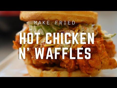 Spicy Hot Fried Chicken & Waffles Sandwich | Nashville's Favorite Treat |  Allrecipes.com