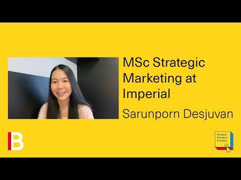 Studying MSc Strategic Marketing at Imperial - YouTube