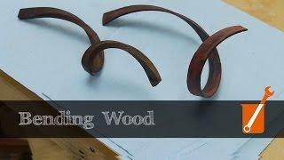 Extreme wood bending with ammonia