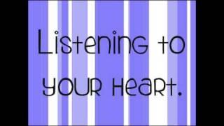 Hannah Montana - Don't Wanna Be Torn (Lyrics) (HQ)