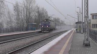 preview picture of video 'Słomniki Miasto dworzec PKP - IC Światowid w obu relacjach & EIP 3508'