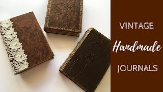 Vintage Handmade Journals | Blank Books | Rosy Journal