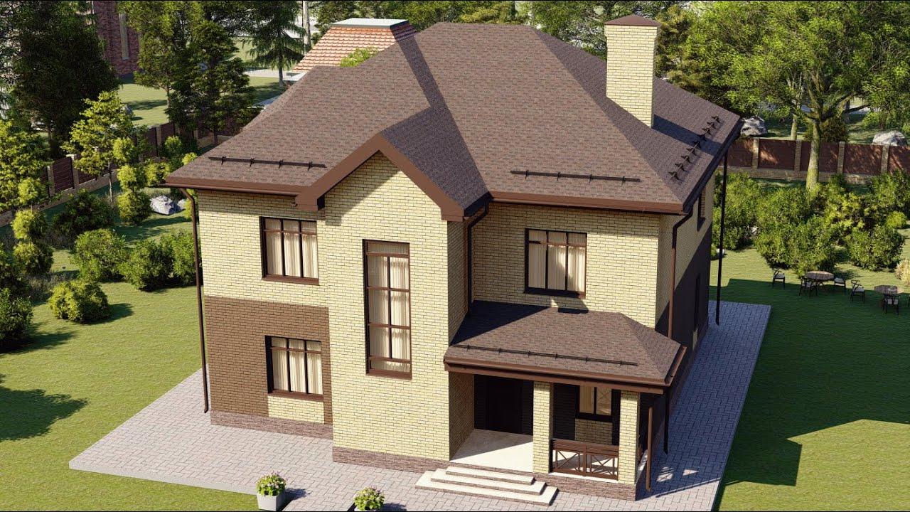 Проект просторного 2-х этажного дома из газобетона с удачной планировкой 198 м2