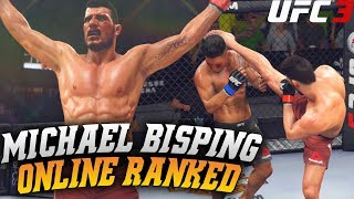 Michael Bisping Throwing Hands! Say Goodnight! EA Sports UFC 3 Online Gameplay