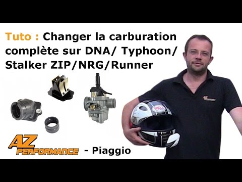 Changer la carburation carbu + clapets + pipe d'admission de son Typhoon / Stalker / Zip / ...