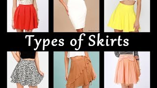 Types Of Skirts With Names | Basics Of Fashion Designing #5