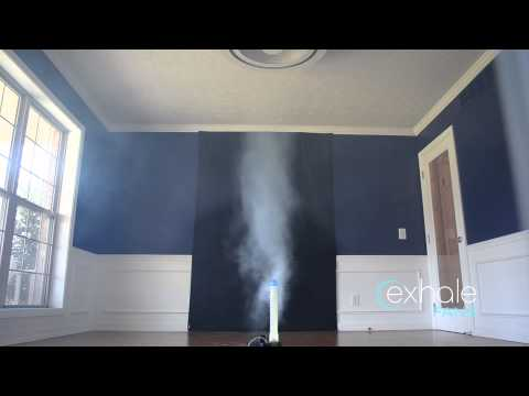 Exhale Bladeless Ceiling Fan—Full Scale Vortex Airflow Demonstration