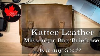 Kattee Mens Cow Leather Messenger Bag | Thoughts?