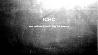 What does ICRC mean