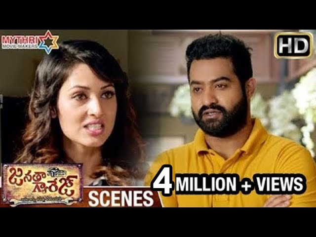 Janatha Garage Emotional Scenes | Jr NTR Slapped by Vidisha | Samantha